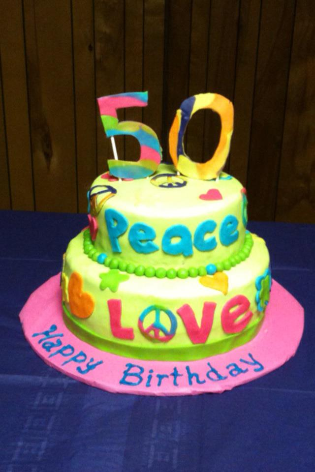 Terrific Peace Love Birthday Cake Is A Good Thing Personalised Birthday Cards Cominlily Jamesorg